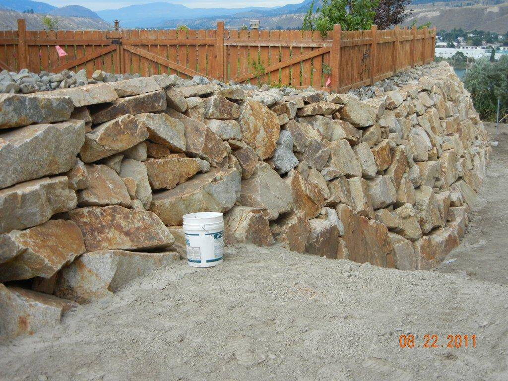 Ziebart Excavating Ltd. | Kamloops BC | Retaining Wall